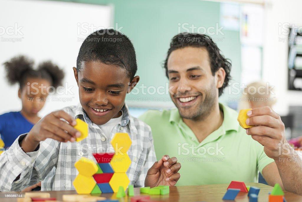 Diverse Elementary Class stock photo