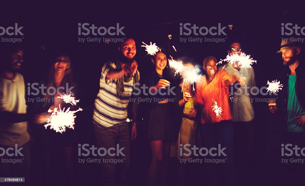 Diverse Ethnic Friendship Party Leisure Happiness Concept stock photo