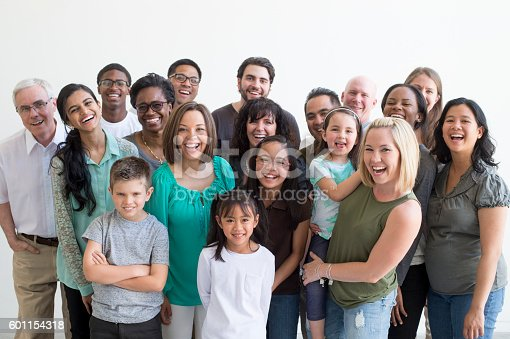 istock Diverse Family Group 601154318