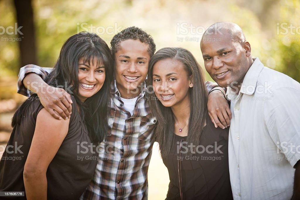 Diverse Family Photo royalty-free stock photo