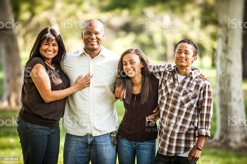 Diverse Family Photo stock photo