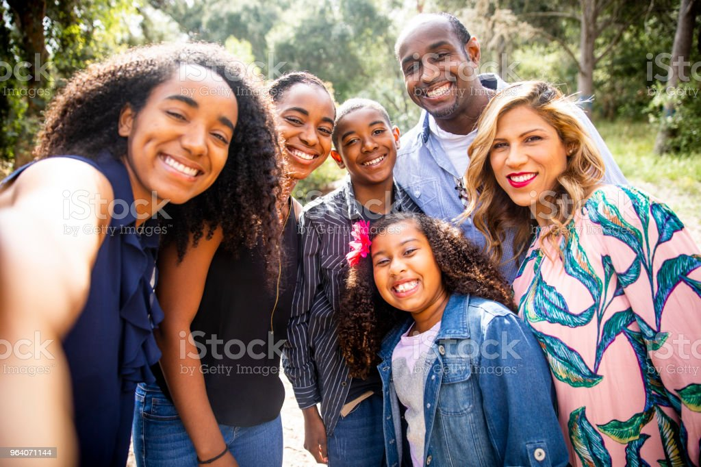 Diverse Family Selfie Photo - Royalty-free Adult Stock Photo