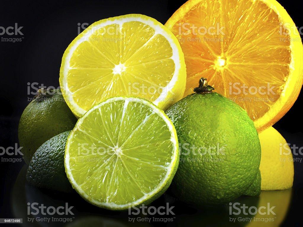 Diverse fruits stock photo