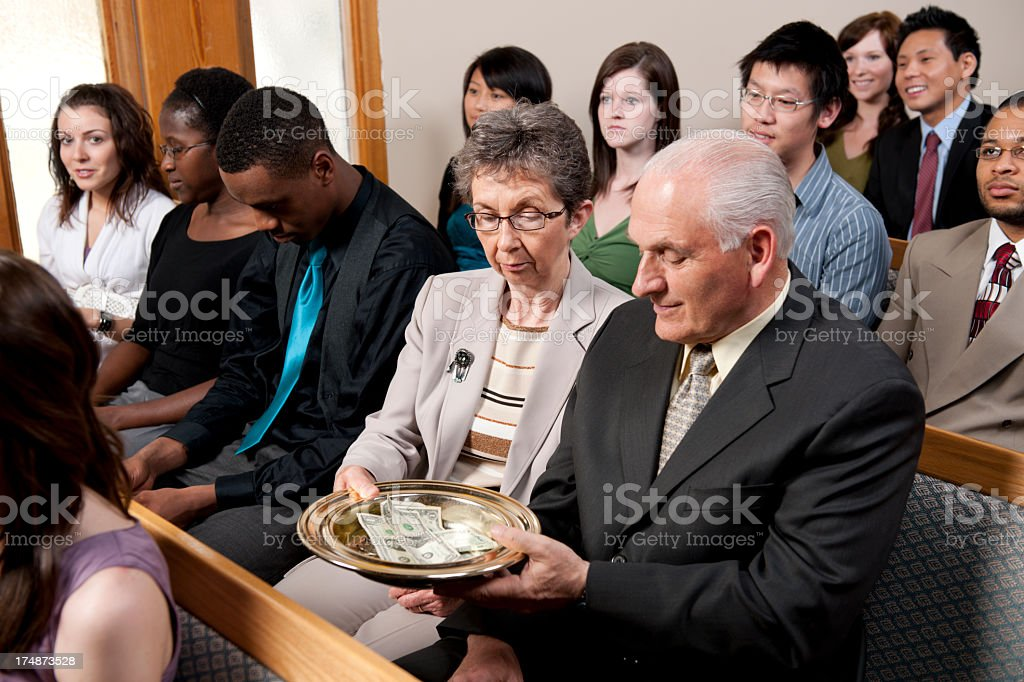 Diverse group at church royalty-free stock photo