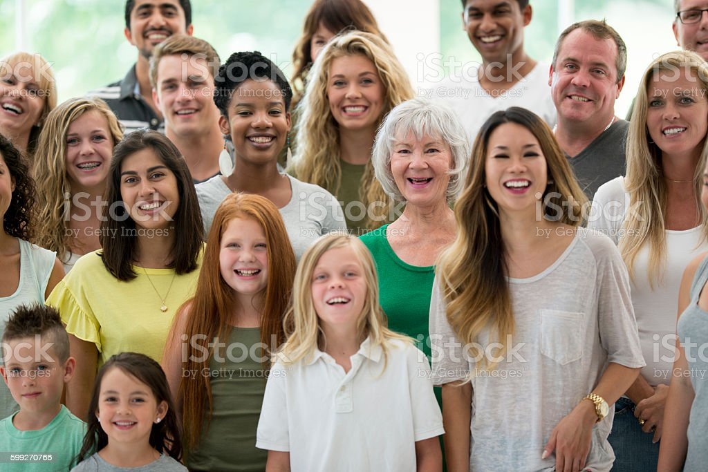 Diverse Group Laughing Together stock photo