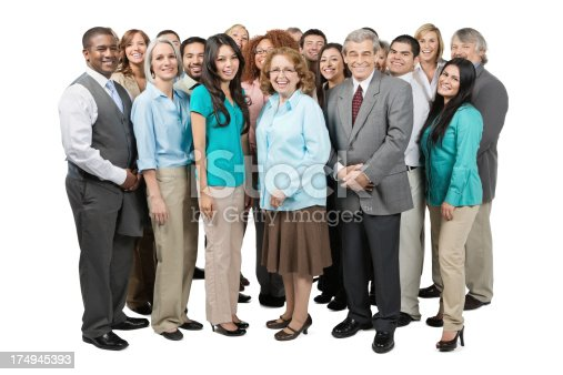 istock Diverse group of business people isolated on white studio background 174945393