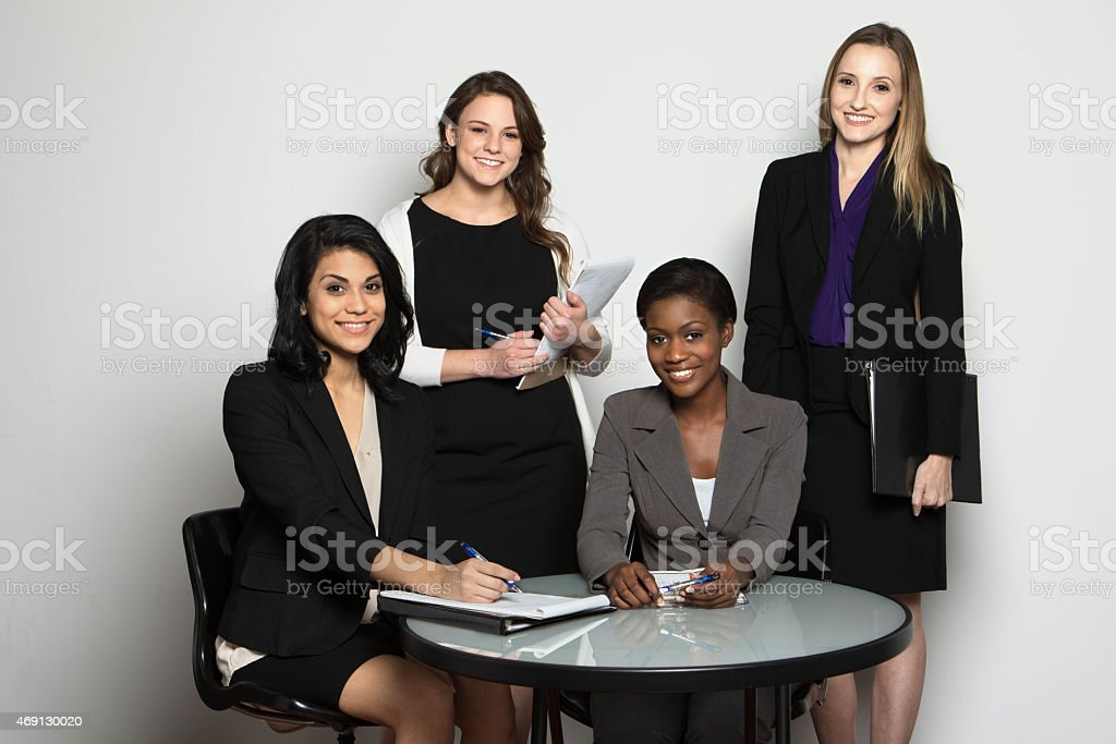 Diverse Group of Businesswomen stock photo