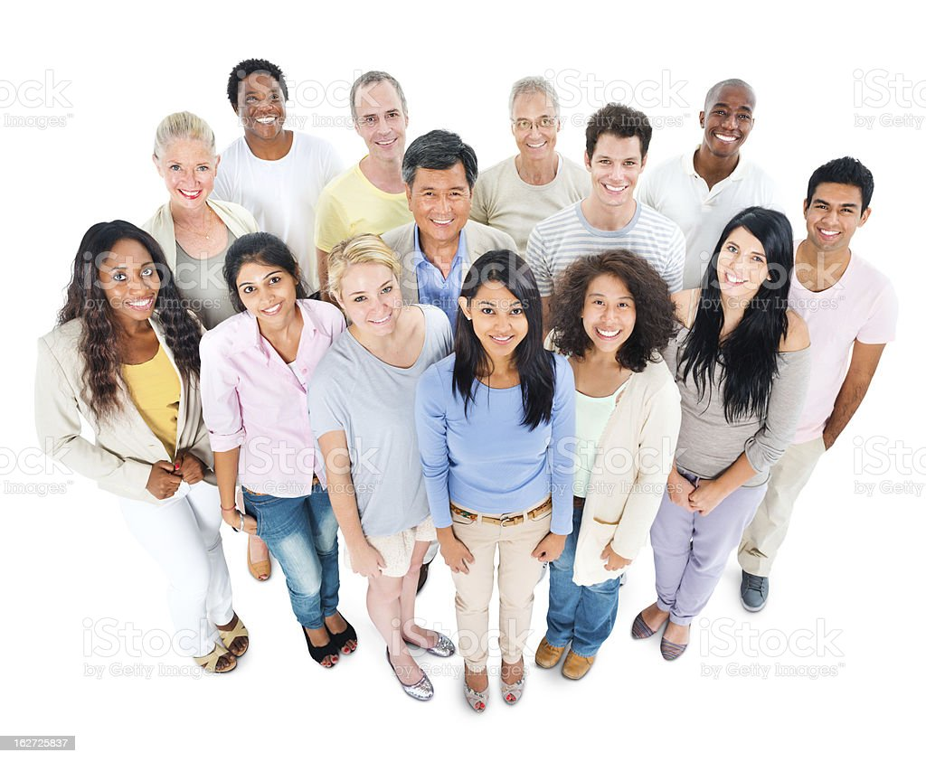 Diverse group of casual people royalty-free stock photo