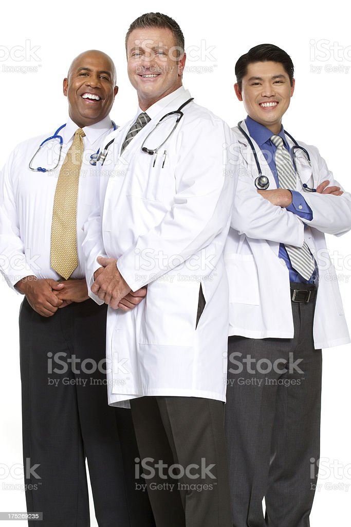 Diverse group of doctors royalty-free stock photo