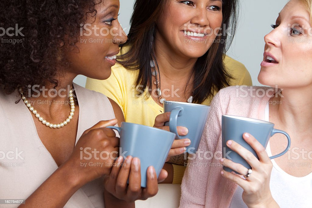 Diverse Group of Friends Having Coffee royalty-free stock photo