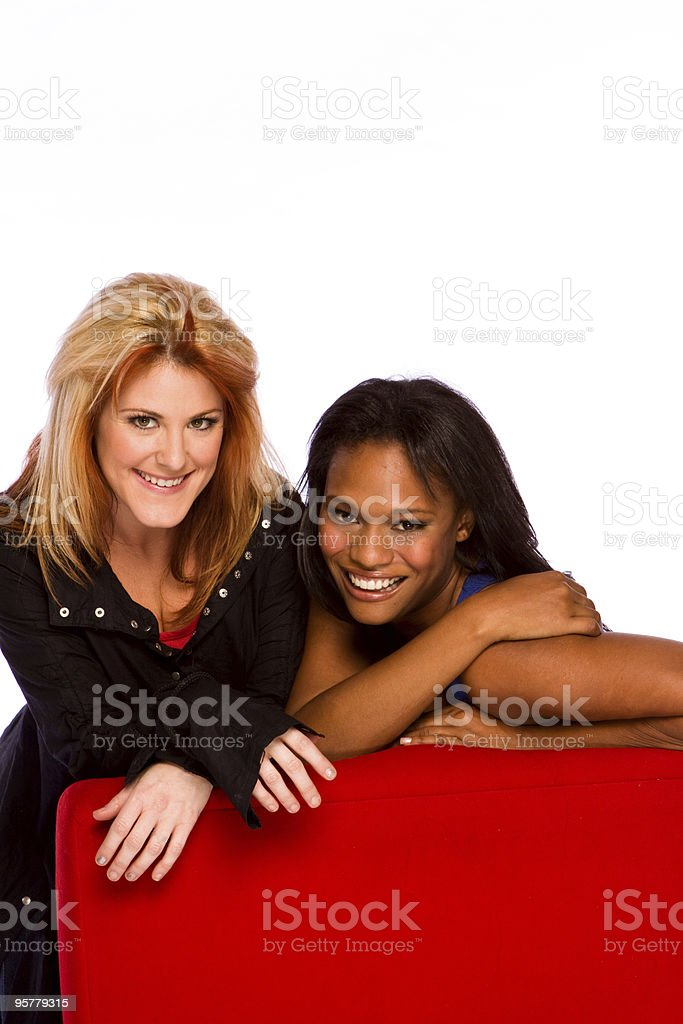 Diverse group of  friends royalty-free stock photo
