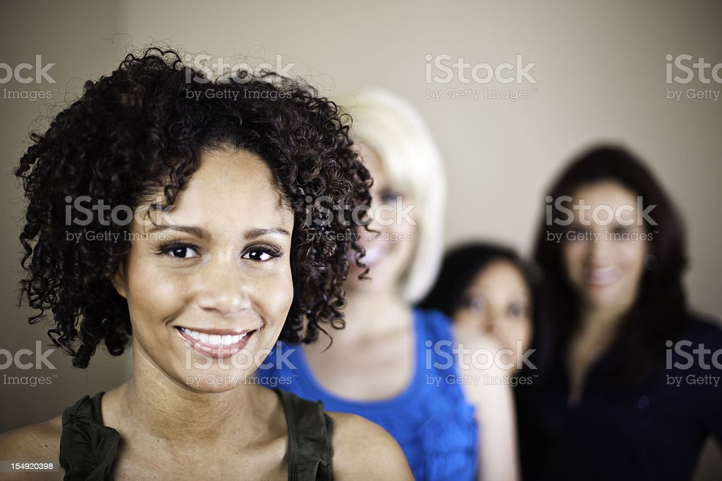 Diverse Group of Girl Friends royalty-free stock photo
