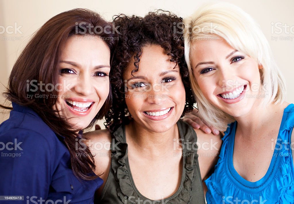 Diverse Group of Girl Friends stock photo