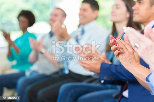 istock Diverse group of happy clapping people 534565814