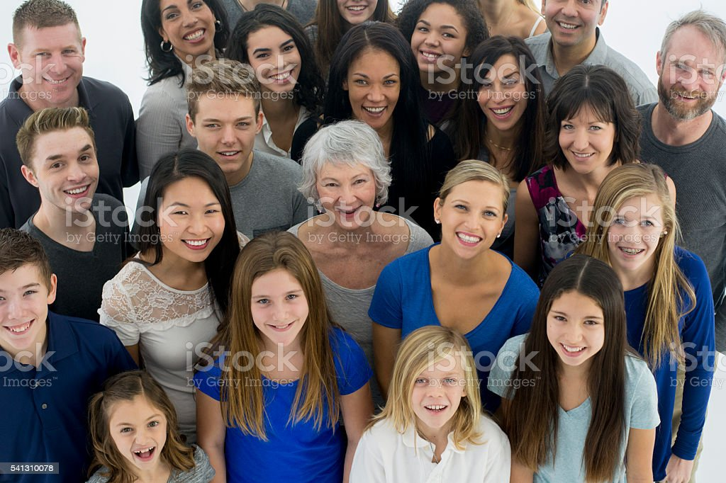 Diverse Group of Happy Individuals stock photo