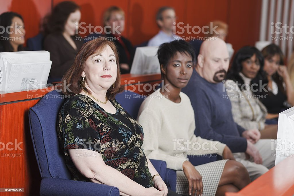 Diverse Group of Jurors stock photo
