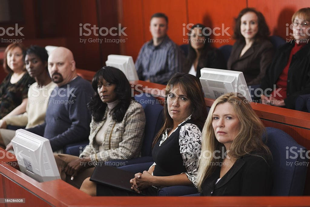 Diverse Group of Jurors royalty-free stock photo