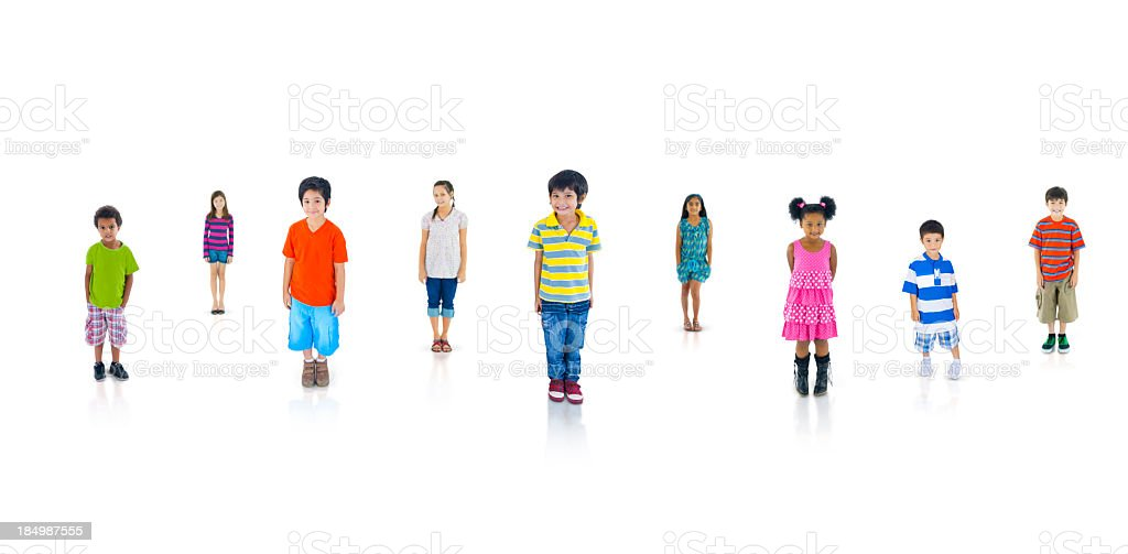 Diverse Group Of Kids. royalty-free stock photo