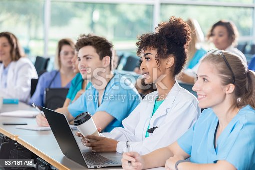 istock Diverse group of medical students attend class 637181798