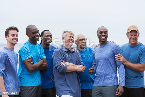 istock Diverse group of men standing together 532284499