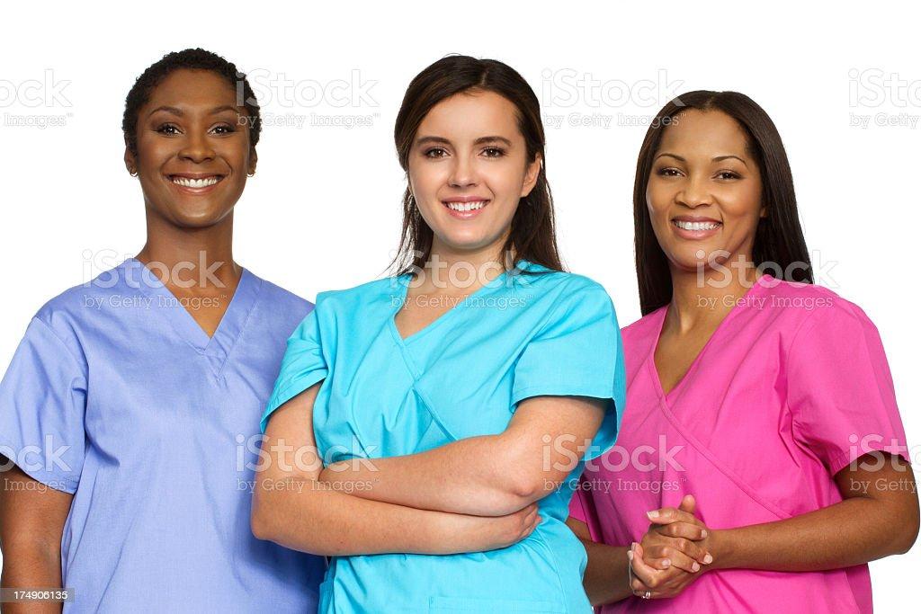 Diverse group of nurses royalty-free stock photo