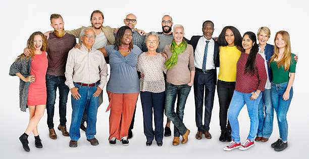 Diverse Group of People Community Togetherness Concept stock photo