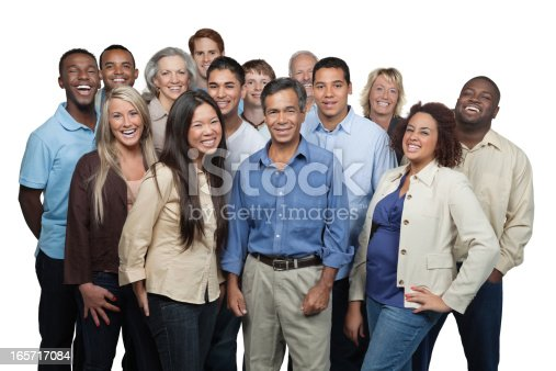 istock Diverse group of people laughing together 165717084