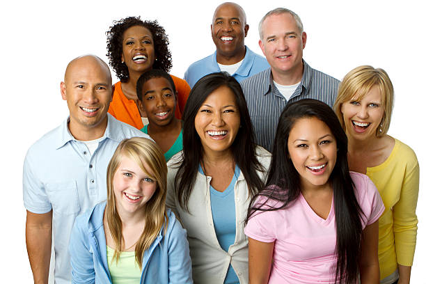 Diverse Group of People Diverse Group of People age contrast stock pictures, royalty-free photos & images