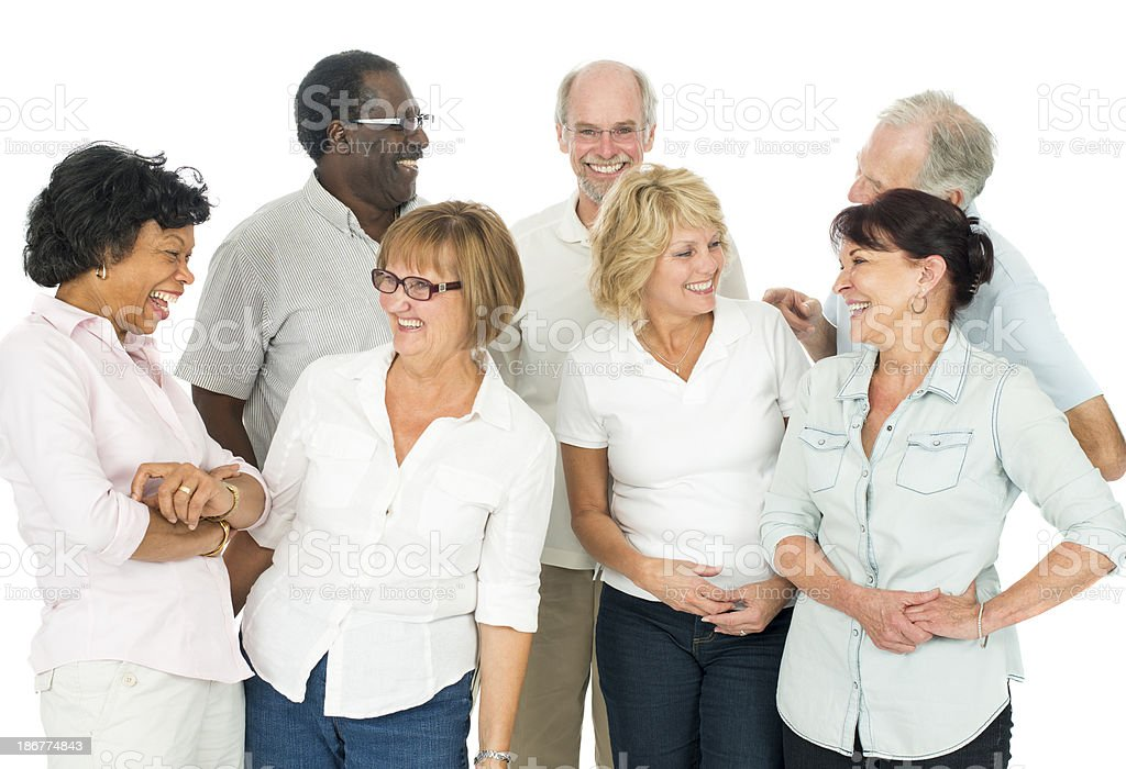 Diverse Group of Seniors royalty-free stock photo