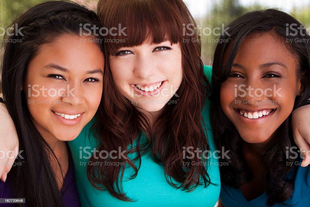 Diverse Group of Teenage Girls royalty-free stock photo