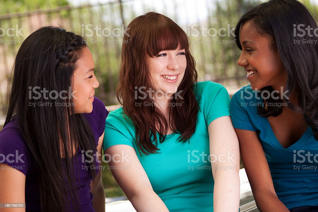 Diverse Group of Teenage Girls royalty-free stock photo