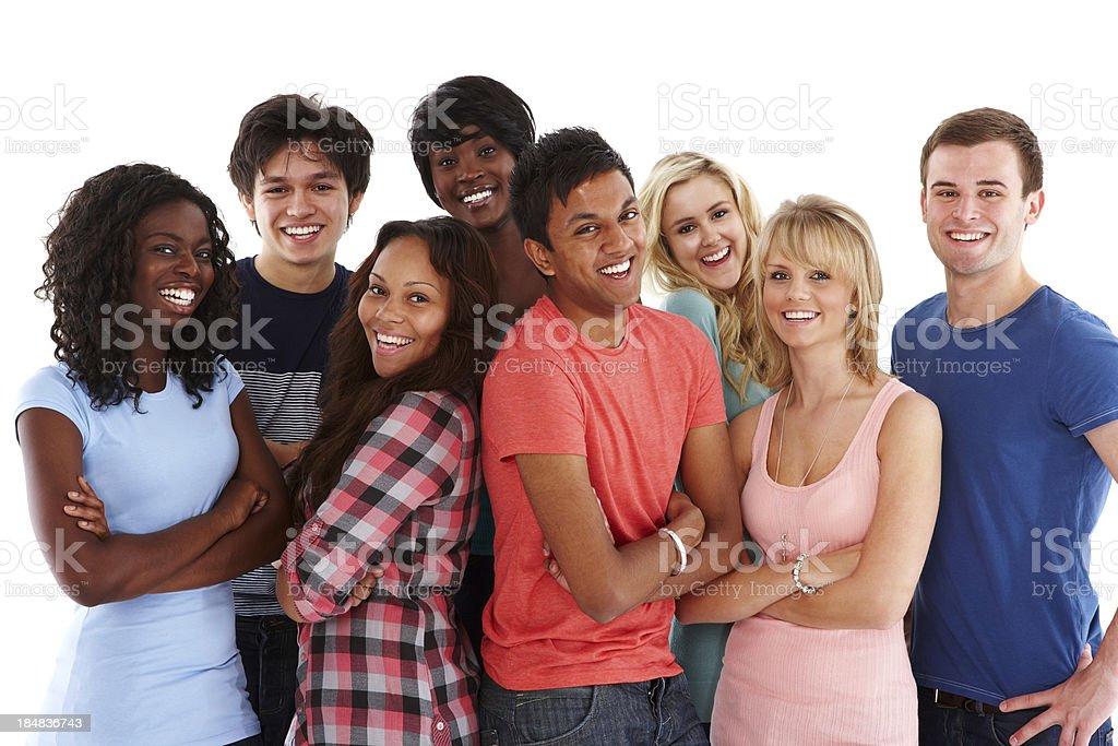 Vielfältige Gruppe von Teenagern – Foto