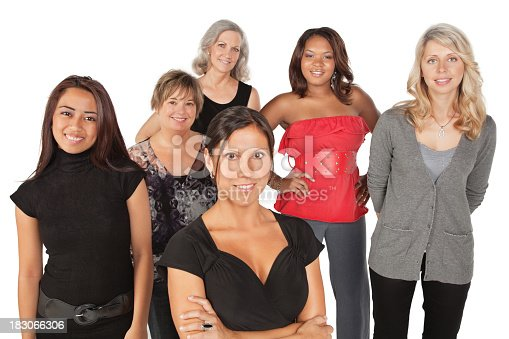 536775759istockphoto Diverse Group of Women on White Background 183066306