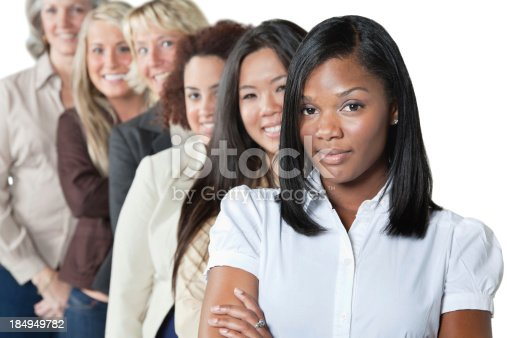 istock Diverse group of women on white background 184949782