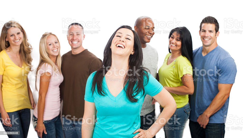 Diverse Group of Young Adults stock photo