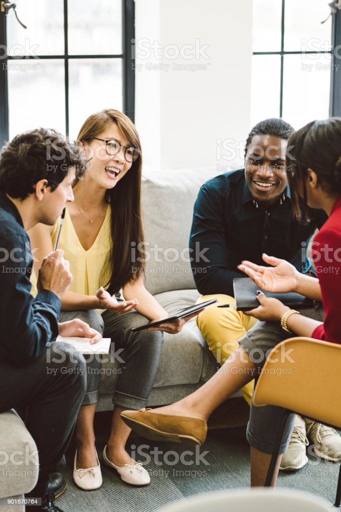 Diverse Group of Young Entrepreneurs stock photo