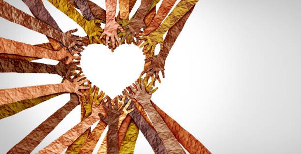 Diverse Hands Heart stock photo
