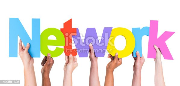 688372024istockphoto Diverse Hands Holding The Word Network 490581305