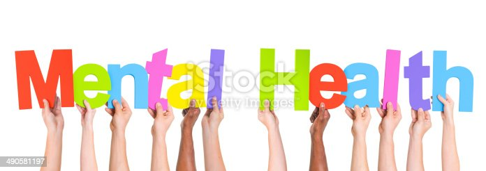 istock Diverse Hands Holding The Words Mental Health 490581197