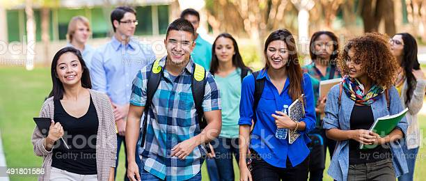 Diverse high school or college students walking on campus picture id491801586?b=1&k=6&m=491801586&s=612x612&h=pziun2w7jmnst m4mpuw 5vmsrpl2hrzkvqrzevzwv0=