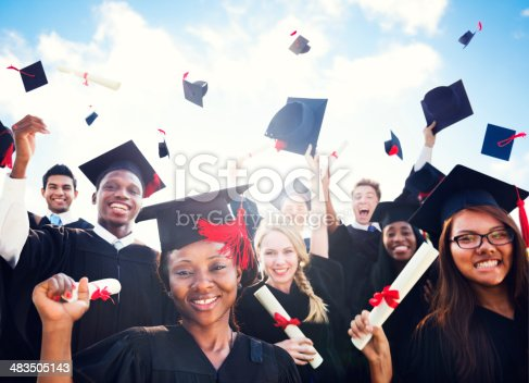 istock Diverse International Students Celebrating Graduation 483505143