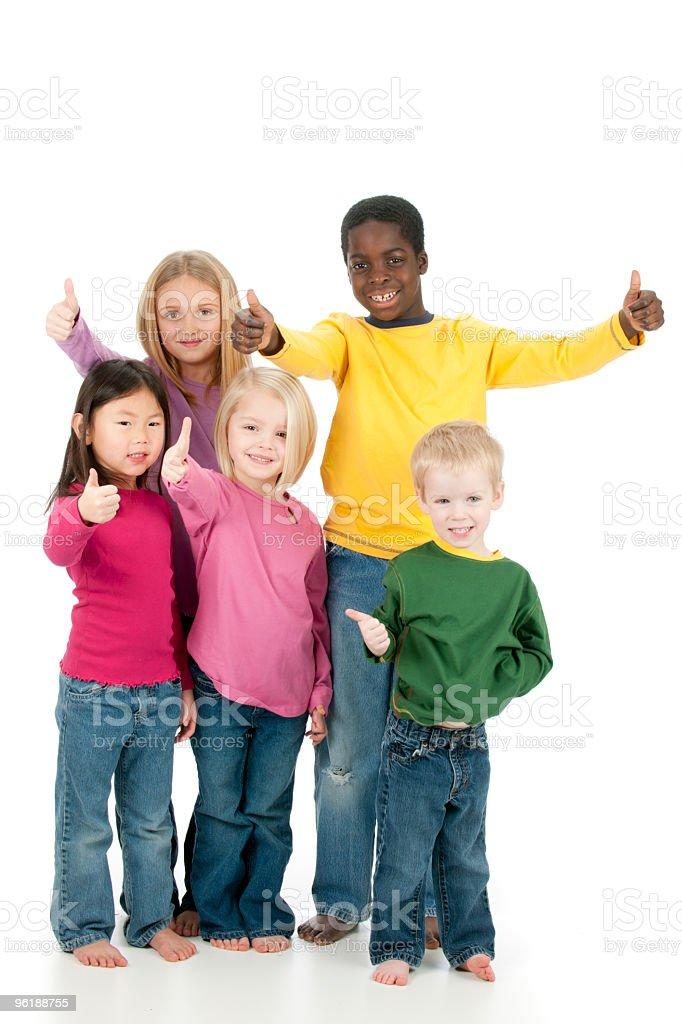 Diverse Kids royalty-free stock photo