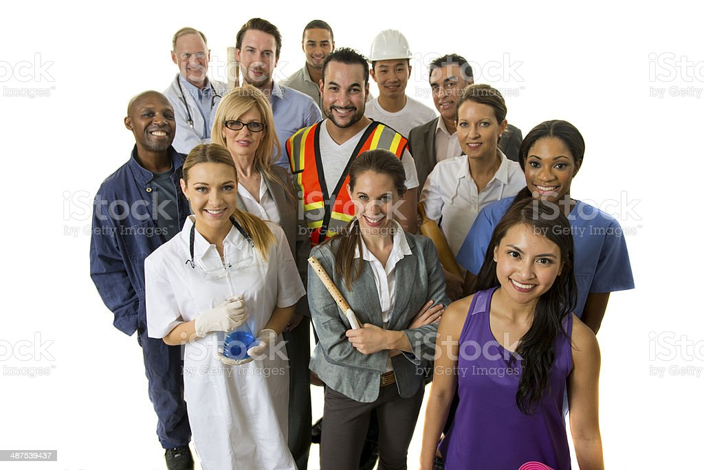 Diverse Occupations stock photo
