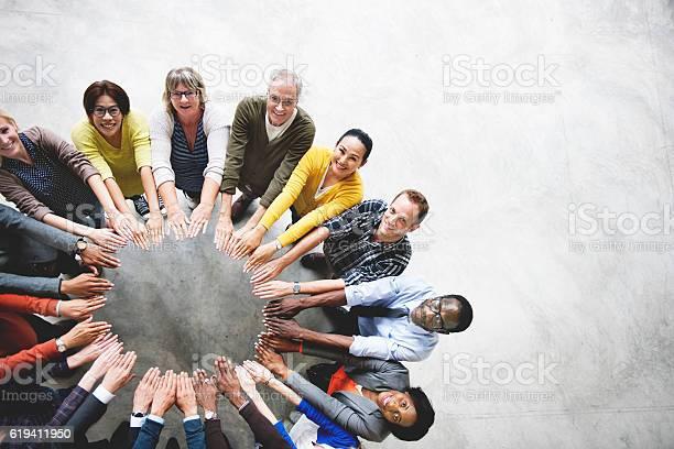 Diverse people friendship togetherness connection aerial view co picture id619411950?b=1&k=6&m=619411950&s=612x612&h=tqb eotqeos2g lftrj tglg39ie poaqtrc suc2u0=