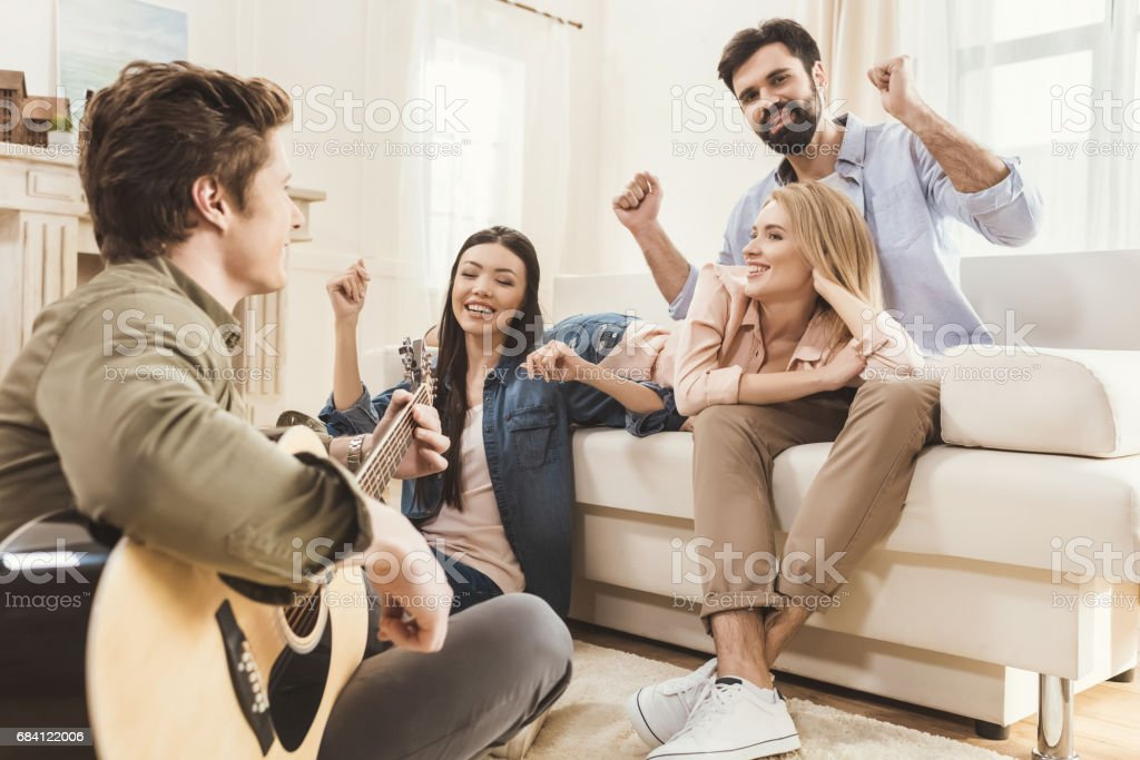 Diverse people partying together foto stock royalty-free