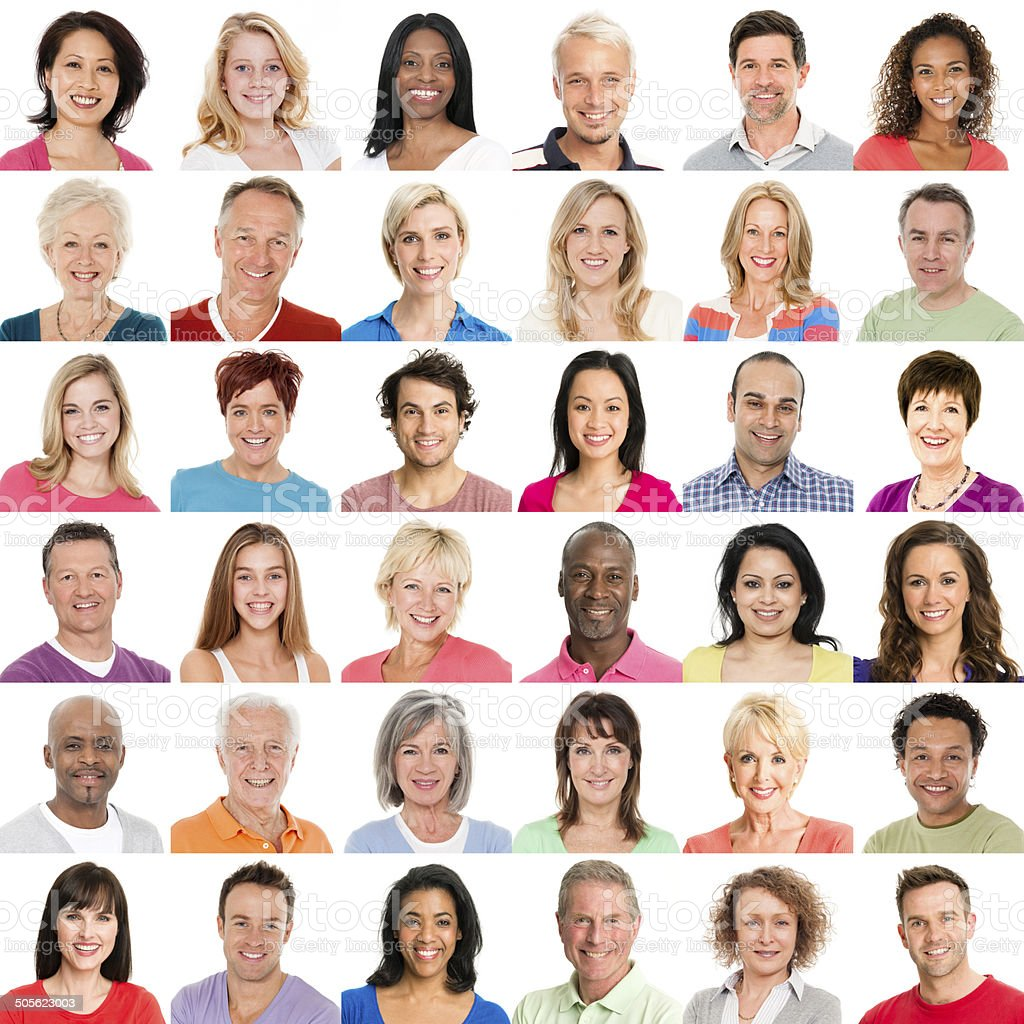 Diverse People Smiling stock photo