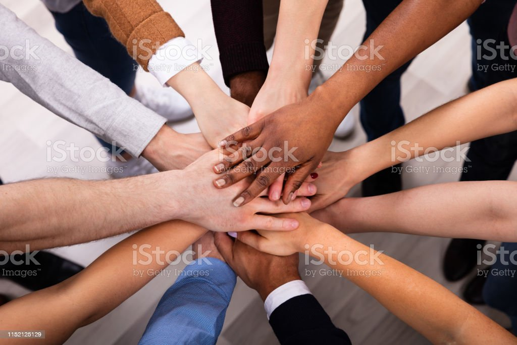 Diverse People Stacking Hand Together - Royalty-free Adult Stock Photo