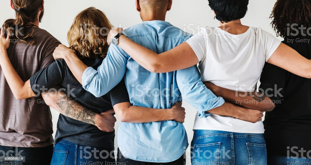 Diverse people with teamwork concept stock photo