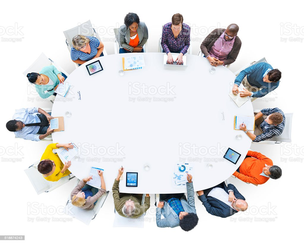 Diverse People Working in a Conference and Copy Space stock photo