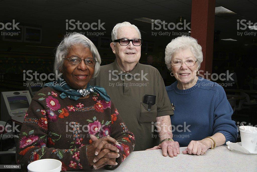 Diverse seniors royalty-free stock photo